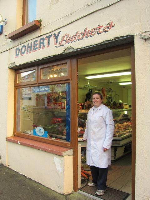 Foxford: Doherty's Butcher's shop