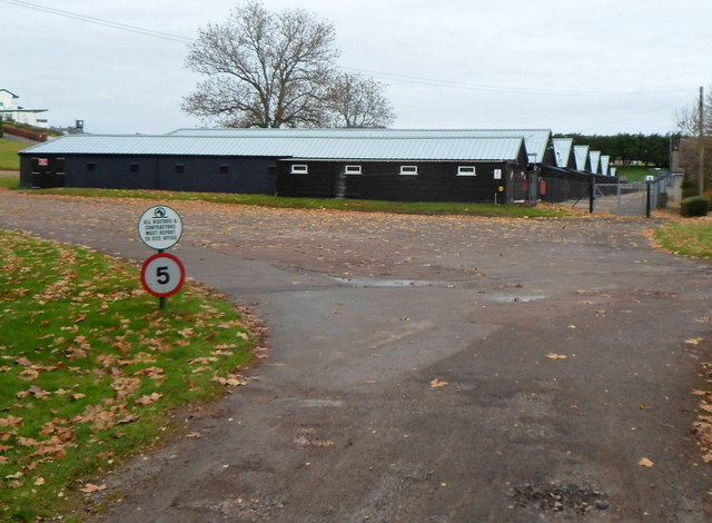 Stables in the SE corner of Chepstow racecourse