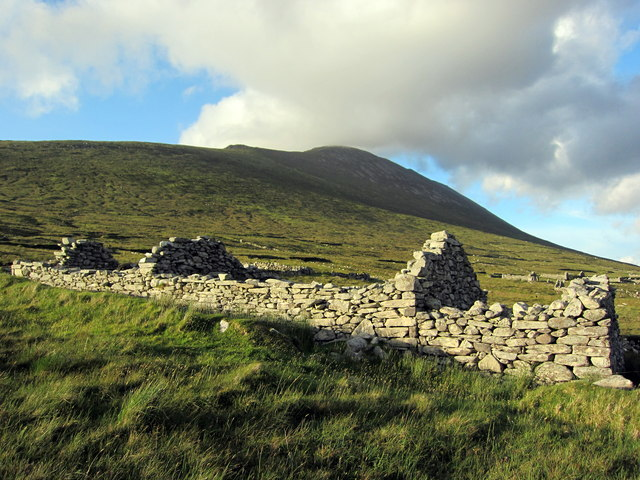 2-chambered dwelling at the Deserted Village, Slievemore