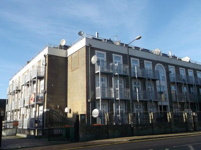 Apartment block on Upton Lane