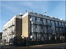 TQ4084 : Apartment block on Upton Lane by David Anstiss