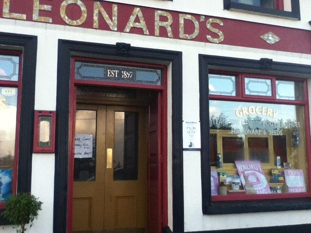 Lahardane: Leonard's Bar & Grocery Shop