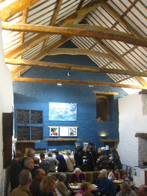 The interior of The Barn restaurant at Cotehele