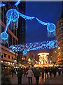 SP0686 : Christmas lights in New Street by David P Howard
