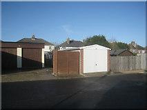 SU6351 : Garages behind Winchester Road by Sandy B