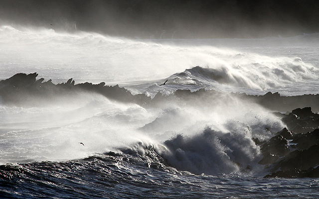 A stormy sea at Yellow Craig