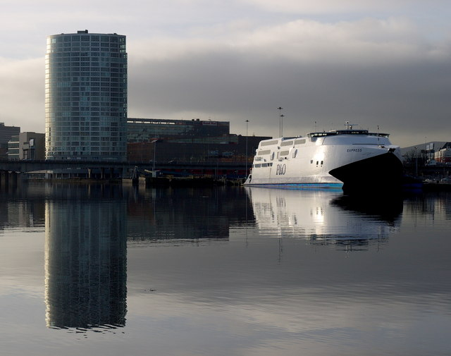 The P&O 'Express' at Belfast