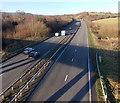 ST3190 : Pillmawr Road bridge casts a long shadow on the A4042, Malpas, Newport by Jaggery
