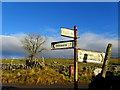 SD8780 : Fingerpost at Beckermonds by Chris Heaton