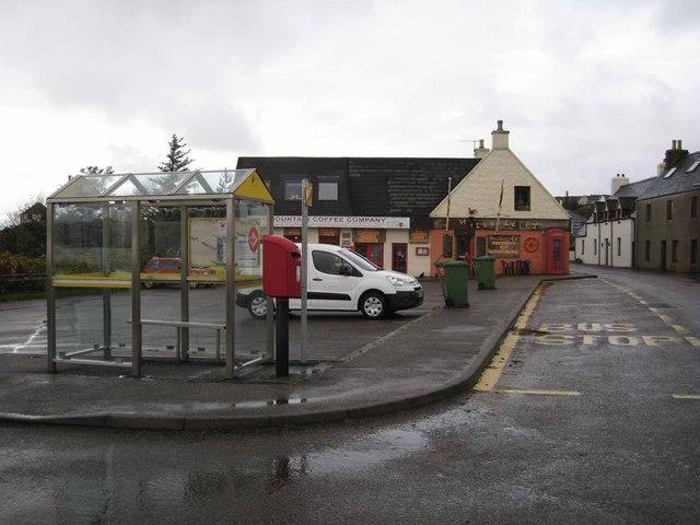 Village centre scene, Strath