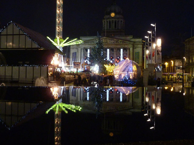 Christmas reflections in the Old Market Square