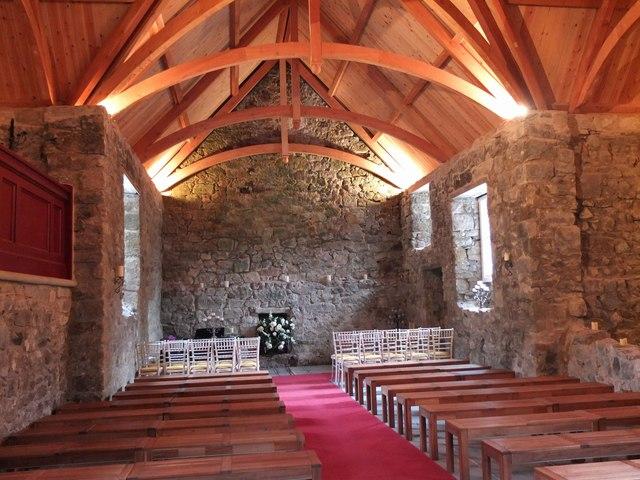 Interior of Glencorse Old Kirk