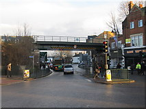 TQ2160 : Railway bridge, Epsom by Richard Rogerson