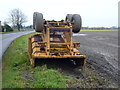 TL4997 : Trailer with a broken chassis on Upwell Road, Christchurch by Richard Humphrey
