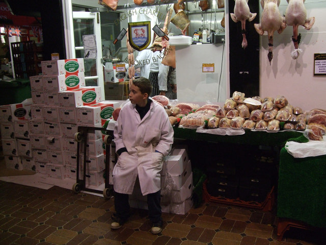 Butcher's boy, Covered Market, Oxford