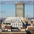 ST1876 : Rooftop view towards Capital Tower, Cardiff by Robin Drayton