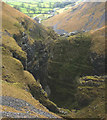 SD9164 : Looking down into Gordale Scar from the north by Karl and Ali