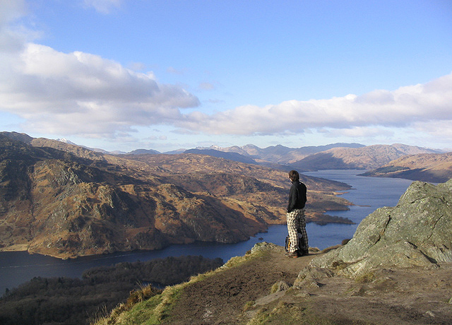 Admiring the view from Ben A'an