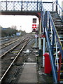 TG1100 : Footbridge over the line to London by Philip Jeffrey
