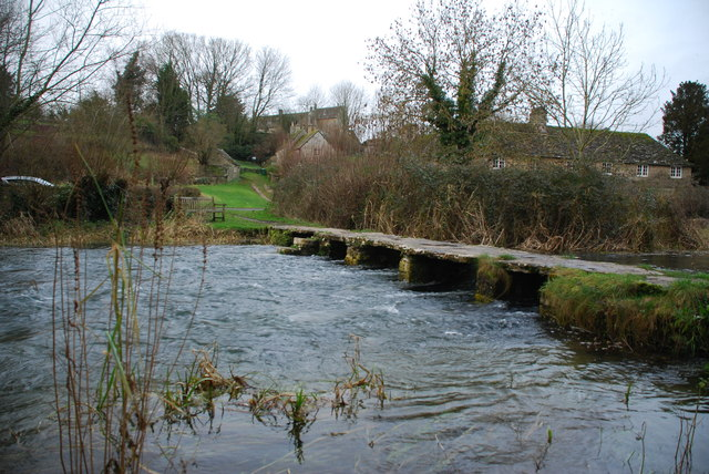 Former Ford and Clapper Bridge at Eastleach Martin