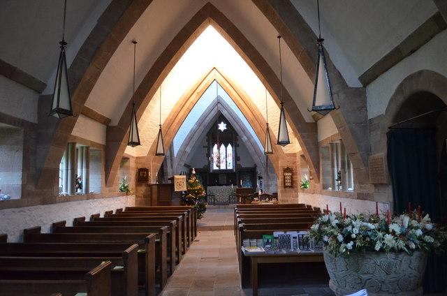 Interior, All Saints' church, Brockhampton