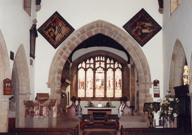 St Giles, Great Longstone - East end
