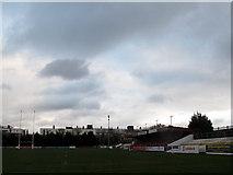 TQ4077 : Blackheath sports club: main stand by Stephen Craven