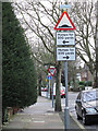 TQ4076 : Road signs galore by Stephen Craven