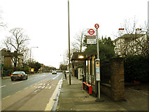 TQ4077 : Bus shelter on Shooters Hill Road by Stephen Craven