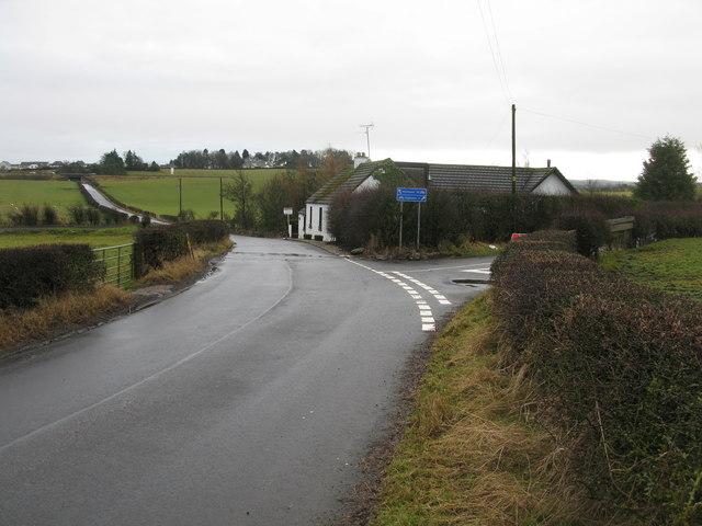 Road Junction on Peel Road South West of Thorntonhall