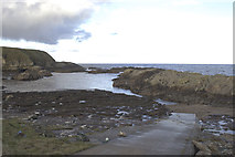NC8766 : Portskerra Slipway by Peter Moore