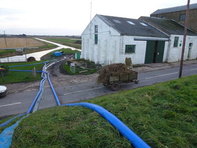 Temporary pumps at Hundred Foot Pumping Station