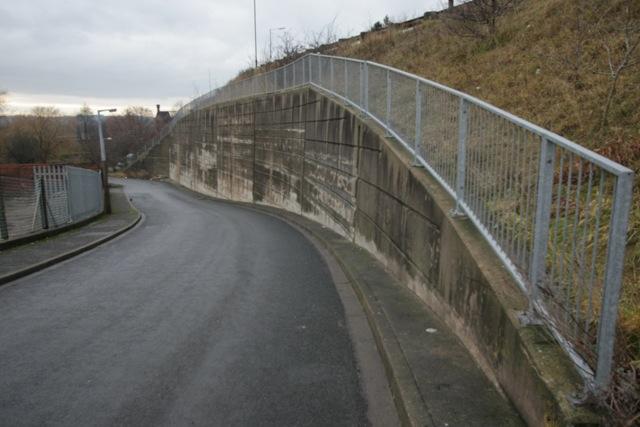 Leach Lane Retaining Wall, Mexborough