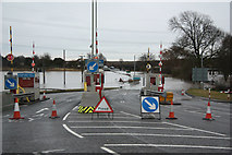 SK8274 : Dunham Bridge toll by Richard Croft