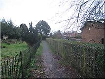 TF0684 : Footpath by the church, Faldingworth by Jonathan Thacker