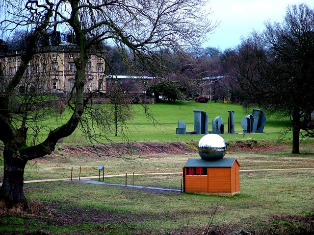 Sculptures in front of Bretton Hall