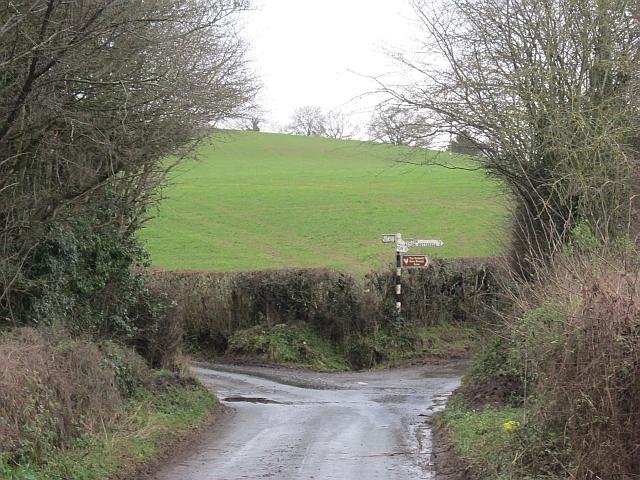 Road junction near Farlow