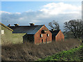 NZ1130 : Buildings of pig farm at Hamsterley by Trevor Littlewood