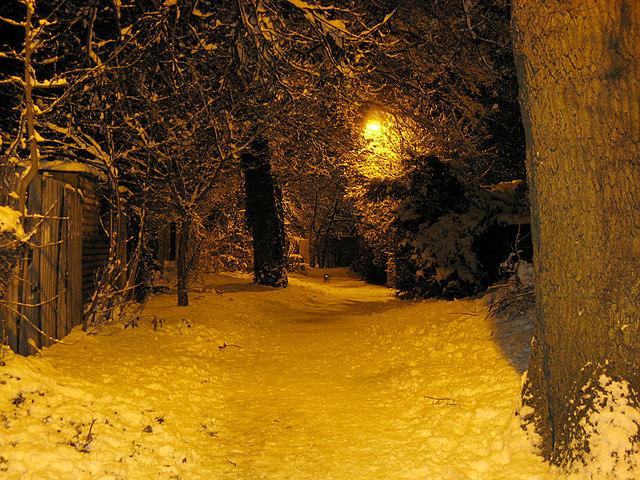 Snowy Footpath