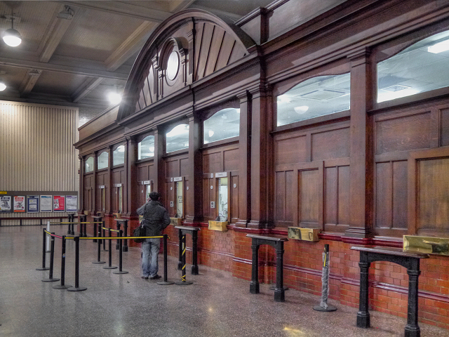Manchester Victoria Station Bookiing Hall