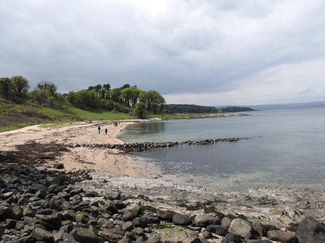 View west across Swineley Bay at Crawfordsburn
