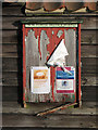 TL6256 : Westley Waterless Forge notice board by John Sutton