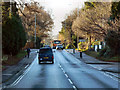 SY9389 : Sandford Road (A351) by David Dixon