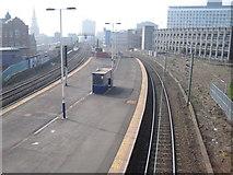 NZ2564 : Manors (East) railway station, Tyne & Wear by Nigel Thompson