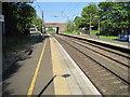 NZ2287 : Pegswood railway station, Northumberland by Nigel Thompson