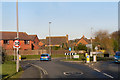 SY9289 : Sandford Road/Morden Road Roundabout by David Dixon