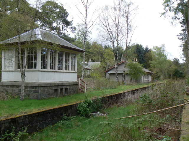 Old Station House and converted Signal Box