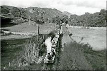 SD1499 : Ravenglass & Eskdale train from Dalegarth approaching Eskdale Green, 1961 by Ben Brooksbank