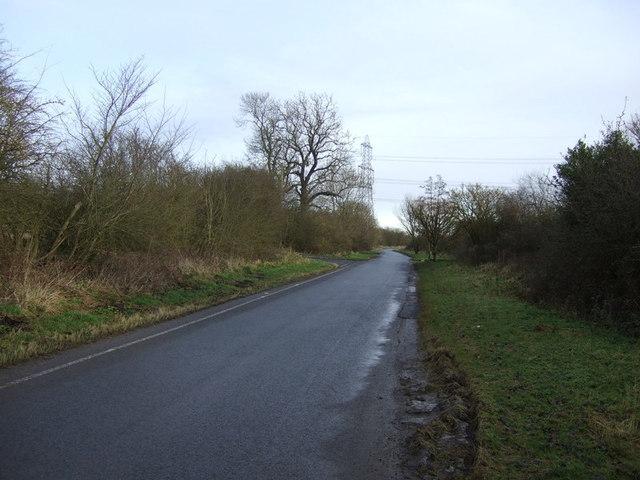 Lane heading east towards Kirklevington