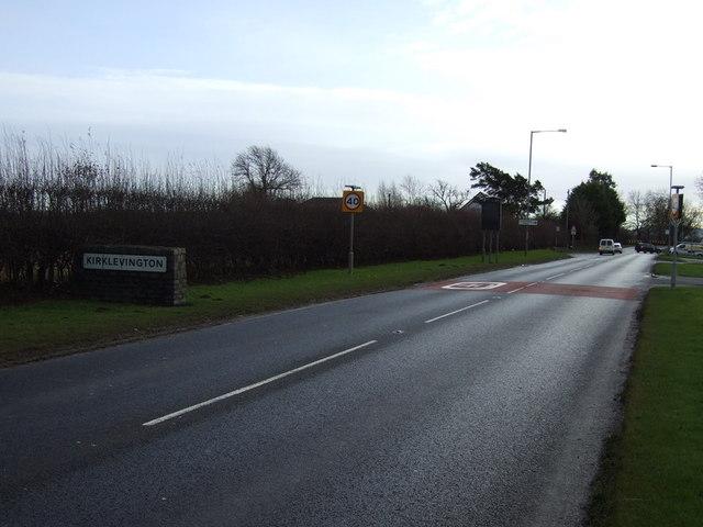 A67 entering Kirklevington